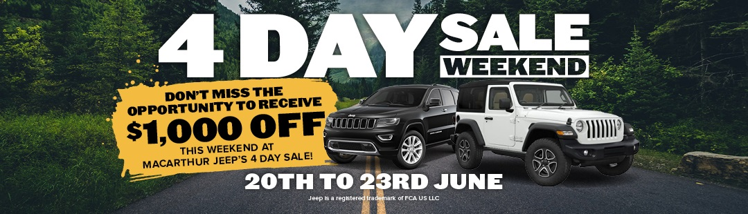 4 Day Sale Weekend | Macarthur Jeep